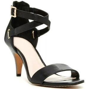 Vince Camuto VC Marlina Black Leather Ankle Strap
